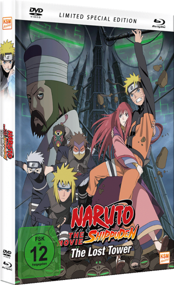 Naruto Shippuden - The Movie 4: The Lost Tower - Mediabook - Limited Special Edition [DVD + Blu-ray]