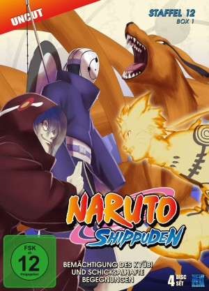 Naruto Shippuden - Staffel 12 Box 1: Episode 463-487 (Uncut) [DVD]