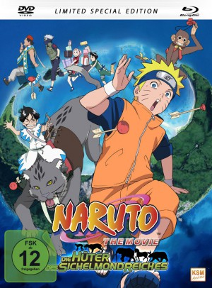 Naruto - The Movie 3: Die Hüter des Sichelmondreiches (Limited Special Edition im Mediabook) [DVD + Blu-ray]