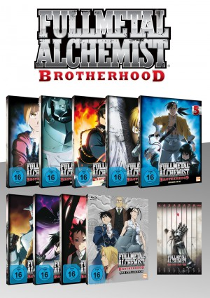 Fullmetal Alchemist: Brotherhood - Fan Edition - Volume 1-8 (64 Folgen) + OVA 1-4 [Blu-ray]