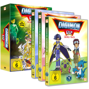 Digimon Adventure - Gesamtedition Staffel 2 - Episode 01-50 im Sammelschuber