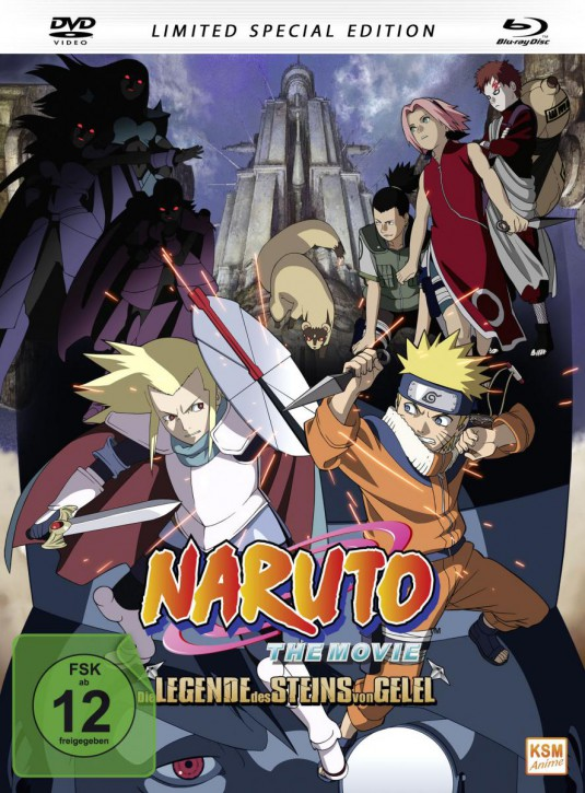 Naruto - The Movie 2: Die Legende des Steins von Gelel (Limited Special Edition im Mediabook) [DVD + Blu-ray]